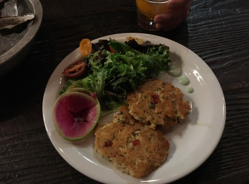 Gas Lamp Fish House crab cakes