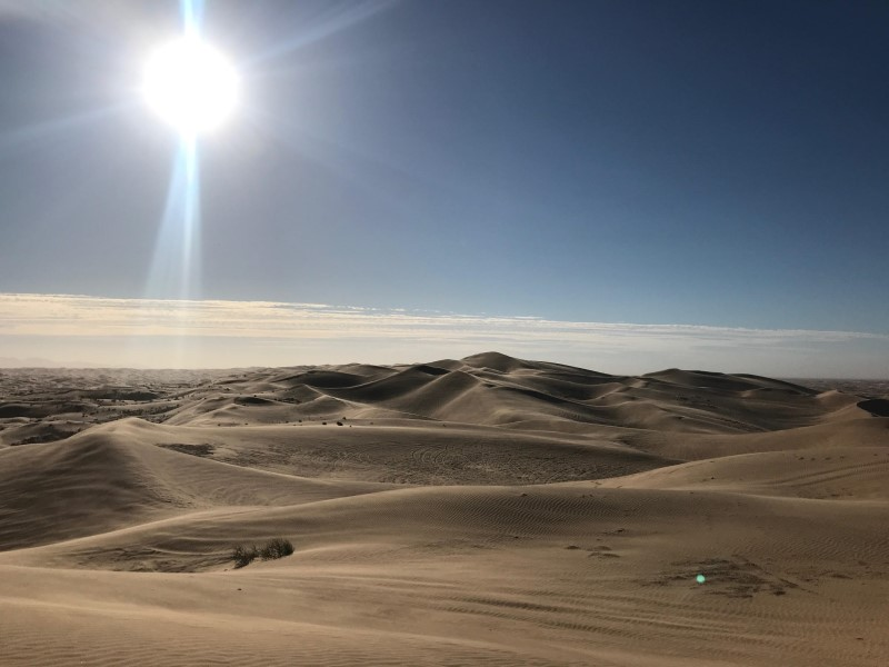 Hearing about Glamis Sand Dunes before we always thought it was in Arizona or in the Vegas area, never thought it was in our backyard like this.