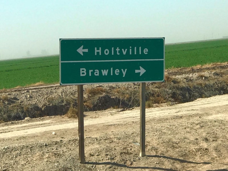 Leaving the Glamis Sand Dunes we passed a sign for Holtville, no time to visit since we need a nap from this early funday Sunday.