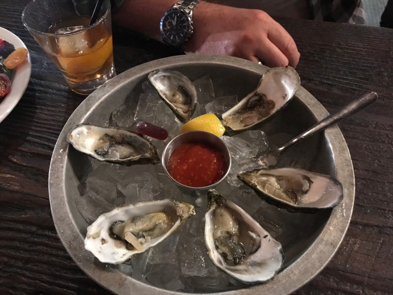 Gas Lamp Fish House oysters